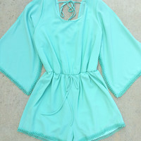 Sweet Pea Romper in Mint