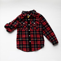 Vierra Rose Lenox Pocket Shirt in Red Plaid - T1007 - PRE-ORDER