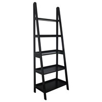 "Mintra 25""W 5-tier A-Frame Ladder Shelf in Black Finish"