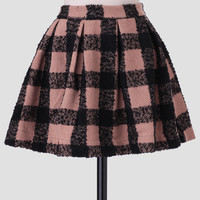 Art Class Plaid Skirt