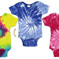 Tie Dye Baby Onesuits Or Toddler Tees
