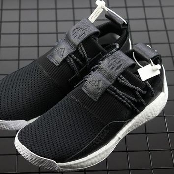 HCXX A291 Adidas Harden Vol.2 Buckle Boost Basketball Shoes Black White