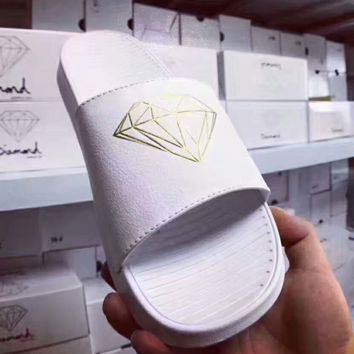 Diamond Supply Fashion Casual Sandals Shoes Women And Men Monogram print Slippers G-PSXY
