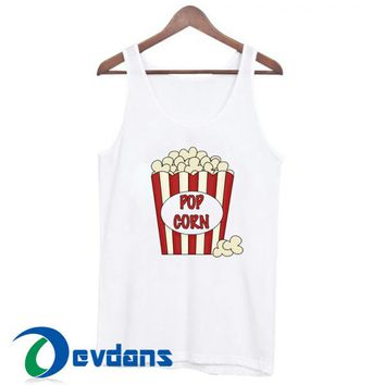 Popcorn Graphic Tank Top Men And Women Size S to 3XL