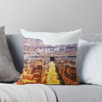 'The Lions Den' Throw Pillow by timeslides