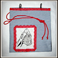 Sharky cotton purse