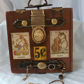 Wooden box purse Retro handbag vintage cigar by HopscotchCouture