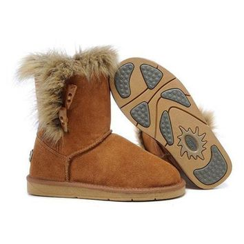 Ugg Boots Cyber Monday Fox Fur 5685 Chestnut For Women 94 09