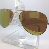 New Ray Ban Sunglasses RB 3025 W3276 rb3025 58MM GOLD/GOLD MIRROR LENS