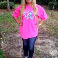 Monogrammed Lilly Pulitzer Comfort Colors Shirt