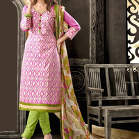 Chanderi Embroidered Suit 003