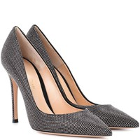 Lennox strass suede pumps
