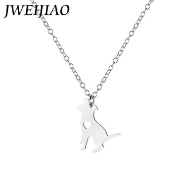 JWEIJIAO Kids Jewelry Gift Beagle Choker Necklace Stainless Steel Love Dog Charms Pendant Necklaces Holiday Birthday Gift SKU22