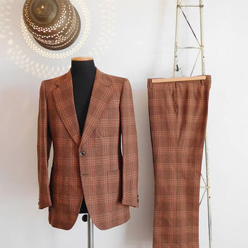 70s Lord Mayor men's check tailored suit