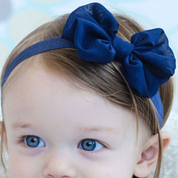 Baby headbands,infant bow headband,beauty chiffon flower with butterfly hair band for kids hair accessories
