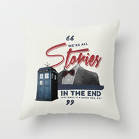 Doctor Who Throw Pillow by Thatfandomshop