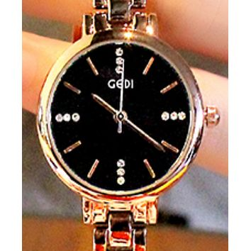 The new genuine small watch, simple student waterproof fashion quartz watch Black