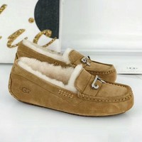 UGG 2018 autumn and winter new bright diamond female fur one snow boots