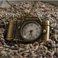 The Camera Clock Necklace by sodalex on Etsy