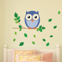 Owl on a Branch Wall Decal - lovely kid's room decor