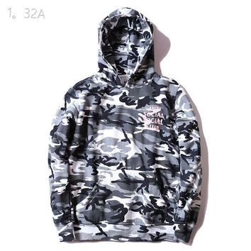 hcxx Anti Social Social Club Grey Camo Hoodie