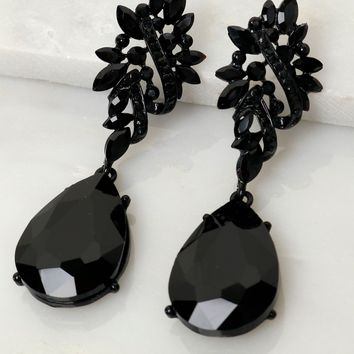 Black Diamond Statement Earring