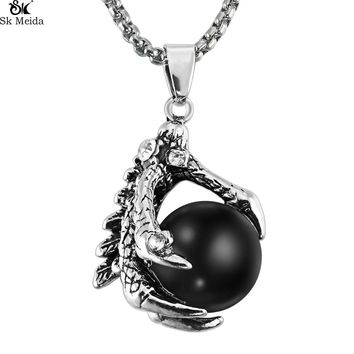 Noe Gothic Dragon Claw Beads Personality Trend Vintage Pendant Influx People Accessories Necklace Men Pendant Necklace WW-108