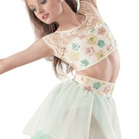 Weissman™ | Sequin & Lace Floral Top with Skirt