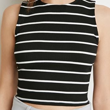 Ribbed Stripe Crop Top