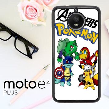 Pokemon Avengers Z0036 Motorola Moto E4 Plus Case