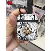 GUCCI Stylish Personality Double G Snakeskin iPhone Airpods Headphone Case Wireless Bluetooth Headphone Protector Case Anti-Fall Protective Case(No Headphones) 4#