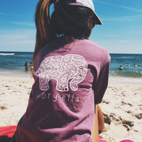 2016 Summer new tshirt Ivory Ella printing T-shirt Women Tops Tee Print Animal Elephant T Shirt Loose Long Sleeve Harajuku Tops
