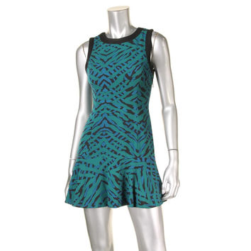Lovers + Friends Womens Animal Print Sleeveless Casual Dress