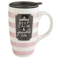 Keep Calm & Sparkle On Mug$12.95