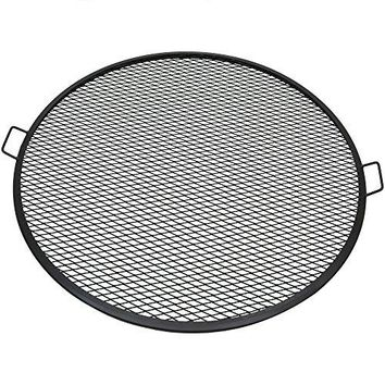 Sunnydaze Fire Pit Cooking Grill, X-Marks BBQ Grate, 40 Inch