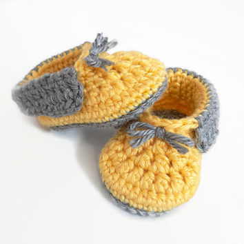 Baby Moccasins, Baby Booties, Crochet Baby Shoes, Baby Boy Booties
