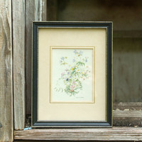 Framed Floral Print, Spring Flowers by Mary McMurtrie, Botanical Artist, Watercolor print, made in United Kingdom, Small Framed Art,