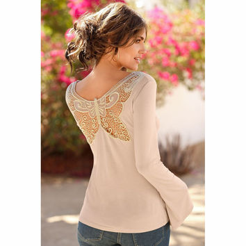 Fashion Butterfly lace t-shirt
