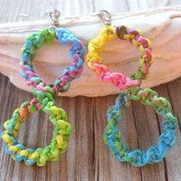 Handmade Infinity Multicolor Wax String Knitted