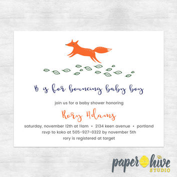 Best baby fox baby shower invitations products on wanelo fox baby shower invites woodland baby shower invitations mod filmwisefo