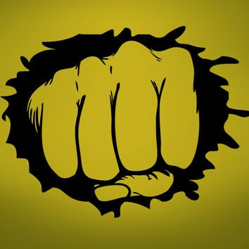 Vinyl Wall Decal Sticker Hand Punch Out Through Wall #273