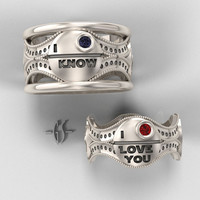 Reserved for Chandra - His and Hers Custom Star Wars Ring Set - Installment 3