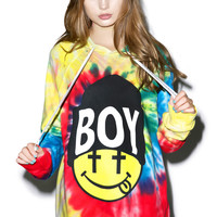 BOY London United Boy Acid Beanie Hoodie Tie Dye