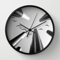 High above... Wall Clock by SensualPatterns