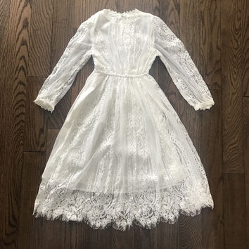 "The ""Chloe"" White Lace Girls Dress"