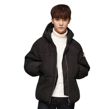 The North Of Boys Fashion Cotton Warm Stand Collar Slim Winter Zip Coat Outwear winter jacket icebear men Face 2017