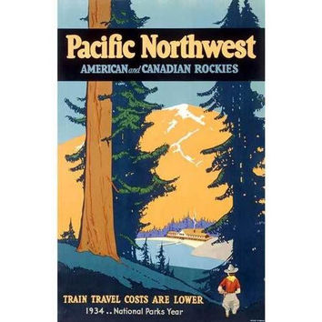 Pacific Northwest Railroad Train Poster