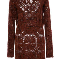 Copper Fringed Compostela Dress