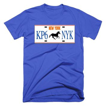 "Porzingis ""KP6"" New York License Plate T-Shirt"