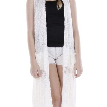 CROCHETEDVEST LONG COVERUP